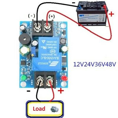 12V-48V Anti-Over Discharge Board Low Voltage Protection Module With Delay Alarm
