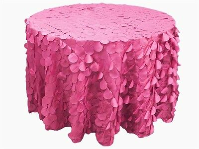 "6 pcs ROUND PETAL 120"" TAFFETA TABLECLOTHS Fancy Catering Wedding Party Linens"