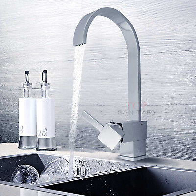 WATERMARK Chrome Round Swivel Basin Sink Kitchen Laundry Faucet Shower Mixer Tap