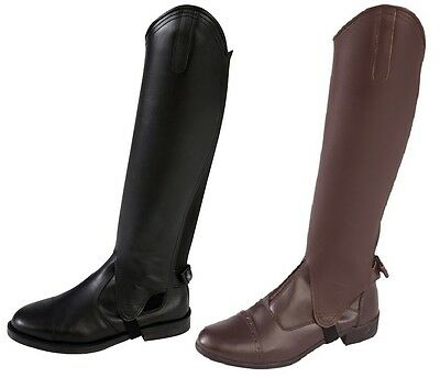 Horka Horse Riding Gaiter Deluxe Leather Half Chap ALL SIZES WIDE OR STANDARD