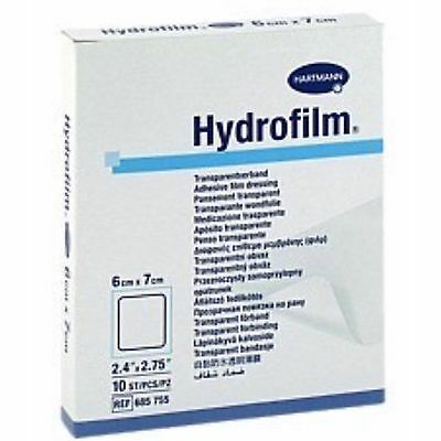 Hydrofilm Dressing 6x7cm x10 Self Adhesive,Transparent,Waterproof,Wound Dressing