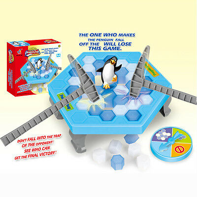 2017 Hot Save the Penguin on Ice Game Break Ice Block Hammer Penguin Trap Game