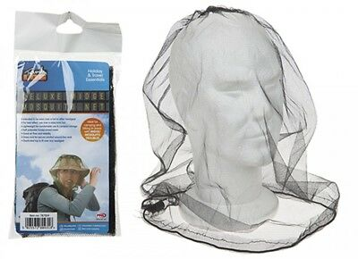 Mosquito Mosi Insect Midge Bug Mesh Head Net Face Protector Travel Camping