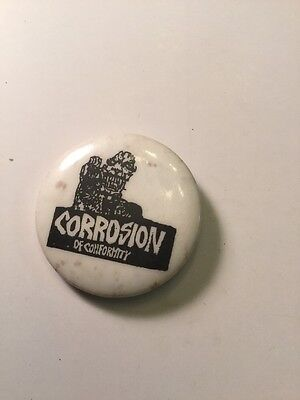 Rare Punk Rock Music Button Pin Collectible Vintage,  Corrosion Of Conformity
