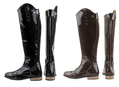 Horka Riding Boot Bonny Adult BLACK PATENT HORSE RIDING BOOT