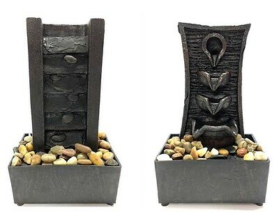 NEW Figural Tabletop Illuminated Tranquility Serenity Resin Water Fountain