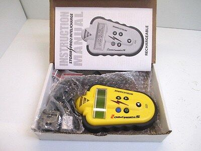 Storm Pro 2 Storm Detector With Intelicharge New In Package Rechargable Yellow