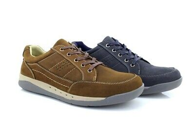 Mens Roamers M9559 Leather Lace Up 5 Eyelet Comfort Leisure Shoes