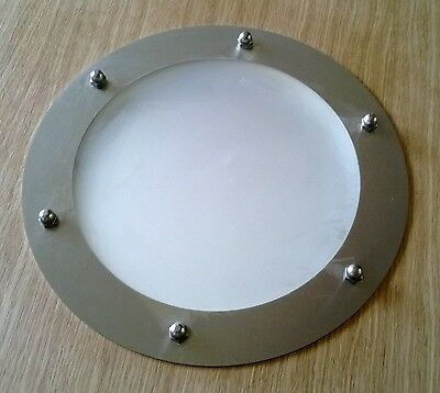 PORTHOLE FOR DOORS STAINLESS STEEL phi 323 mm flat
