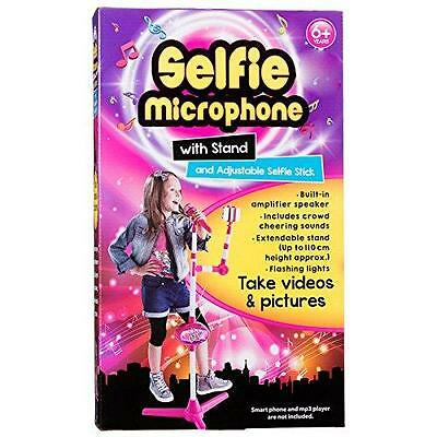 New Selfie Microphone With Stand & Adjustable Selfie Stick (English)