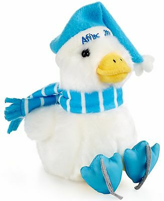 """Aflac 6"""" Holiday 2014 Plush Toy Duck, White/Blue"""