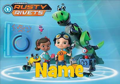 Rusty Rivets Personalised Placemat