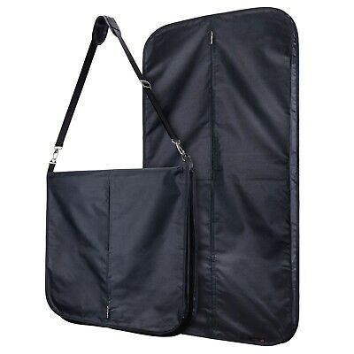 "Black Strong Nylon Heavy Duty 42"" Carry Cover Travel Suit Bag Hangerworld"