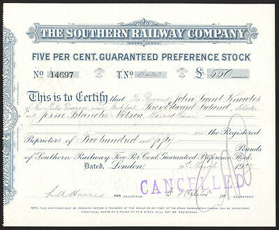 Southern Railway Co., 1927, Guaranteed preference stock