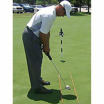 Golf Alignment / Drill Sticks - White 2 poles per pack Great Practice Aid