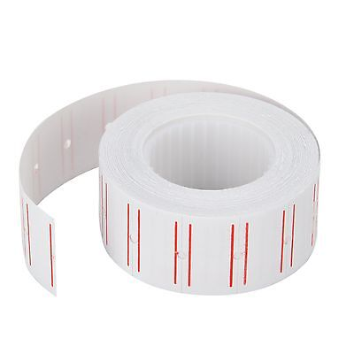 10 Rolls Price Label Paper Tag Sticker for MX-5500 Labeller Gun White & Red Line