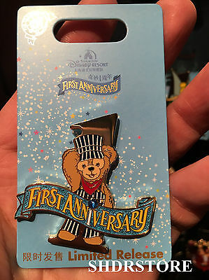 Duffy Limited Shdr New Pin First Anniversary Disney Shanghai Disneyland