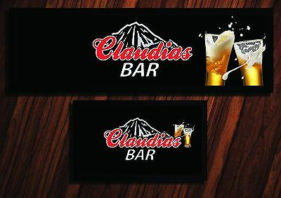 Personalised Coors Light Black Bar Runner Ideal For Home Pub Beer Mat Occasion