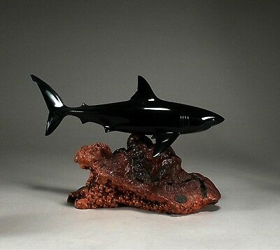 GREAT WHITE SHARK Statue New direct from John Perry 15in long Figurine Decor