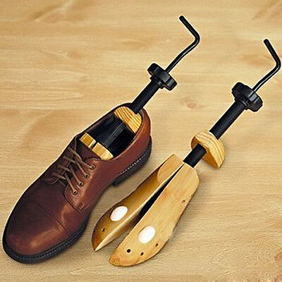 Unisex Women Men Wooden Adjustable 2-way Shoe Stretcher Expander Shaper Tree M