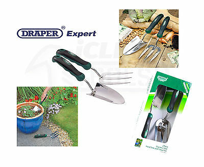 Draper 28319 Expert Stainless Steel Heavy Duty Soft Grip Fork And Trowel Set