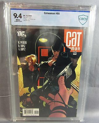 CATWOMAN #60 (Adam Hughes Cover) White Pages CBCS 9.4 NM DC 2006 cgc