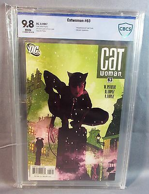 CATWOMAN #63 (Adam Hughes Cover) White Pages CBCS 9.8 NM/MT DC 2007 cgc