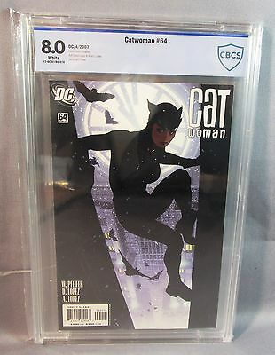 CATWOMAN #64 (Adam Hughes Cover) White CBCS Undergraded Gem 8.0 DC 2007 cgc