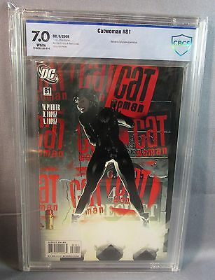 CATWOMAN #81 (Adam Hughes Cover) White CBCS Undergraded Gem 7.0 DC 2008 cgc