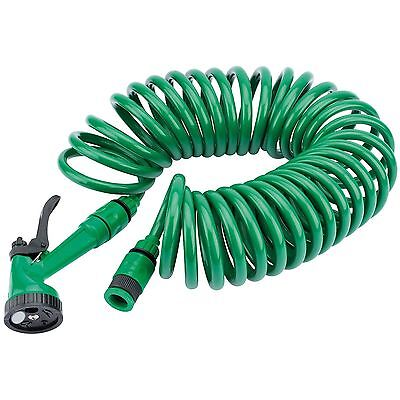 Draper 83984 10M Recoil Garden Watering Hose With Spray Gun And Tap Connector