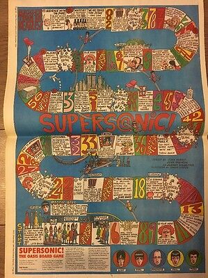"""The Oasis Board Game 2 Pag Pictures Articles 16 X 12"""" Poster Size 24/31 Dec 1994"""