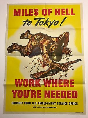MILES OF HELL TO TOKYO - WW2 Poster - ORIGINAL