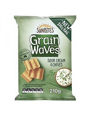 Grainwaves Sour Cream and Chives 210g