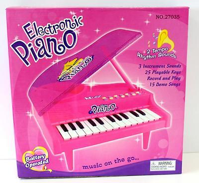 Pink Electronic Toy Piano Pink Battery Operated