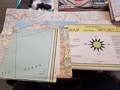 Lot of Vintage US,World Maps