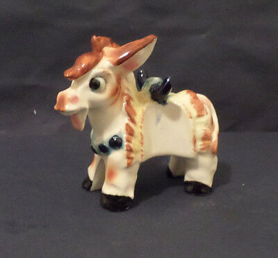 Festive Fiesta Ceramic Donkey, 4.5 inches tall, by GNCO of Japan