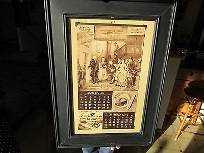 Original 1937 Hi-Speed Gas And Oil Service Station Advertising Calander