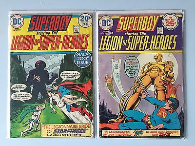 SUPERBOY Legion Of Super-Heroes DC 1974 Issues #200 & #206