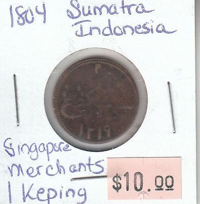 Indonesia Sumatra 1 Keping 1804 Circulated