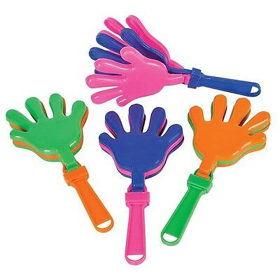 "Large Hand Clapper Noisemakers 7.5"" Toy Novelty Party Favor (LOT OF 24X)"