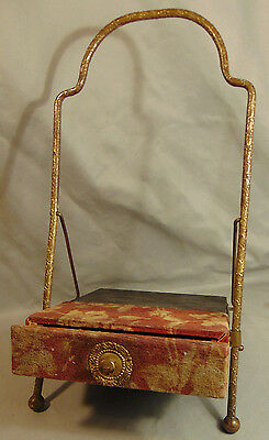 Antique Victorian Folding Photo Album Stand w/ Drawer Unmarked