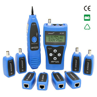 Network Ethernet LAN Phone Tester wire Tracker USB Coaxial LCD Cable testerNF388