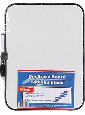 """Dry Erase Whiteboard with Marker 8.5"""" x 11"""" Light Weight Travel School"""