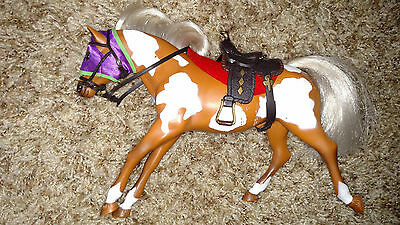 Gorgeous Vintage Empire Ind. Grand Champion Running Paint Horse w/Tack