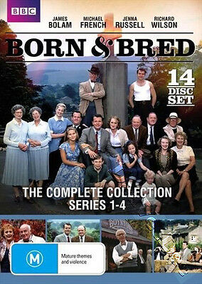 Born & Bred - Complete Collection (Series 1-4) NEW PAL Cult 14-DVD Set J. Bolam