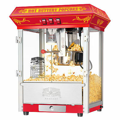 Great Northern Red Classic  8oz Popcorn Popper Machine Countertop, 8 Ounce