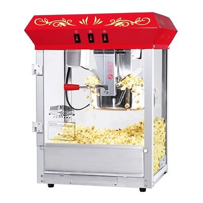 Great Northern Popcorn Red Foundation Popcorn Popper Machine, 8 Ounce