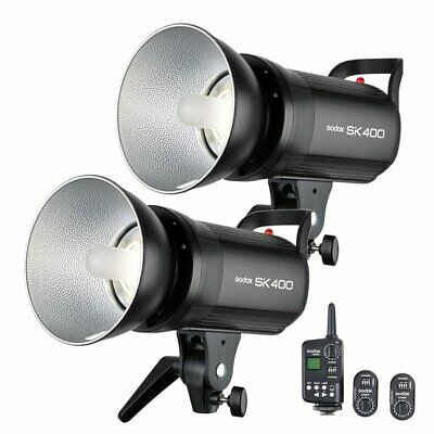 AU 2X Godox SK400 400Ws Studio Strobe Flash Light + FT-16 Wireless Trigger Kit