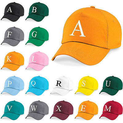 Kids Embroidery Baseball Cap Girls Boys Junior Childrens Hat Summer A Z Orange