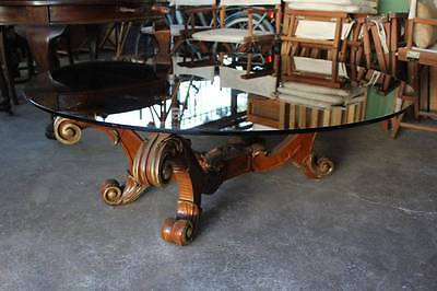 A Very Large Rococo Glass Top Coffee Table - Baroque - French